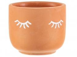 Acheter Petit pot à plante Terracotta - Yeux fermés - 5,19€ en ligne sur La Petite Epicerie - Loisirs créatifs