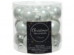 Acheter Lot de 24 mini boules de Noël en verre - blanc d'hiver -2,5 cm - 3,99€ en ligne sur La Petite Epicerie - Loisirs cré...