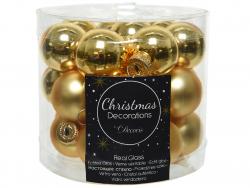 Acheter Lot de 24 mini boules de Noël en verre - or clair -2,5 cm - 3,99€ en ligne sur La Petite Epicerie - Loisirs créatifs