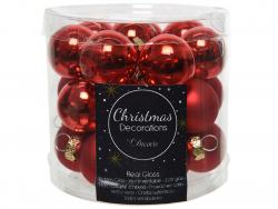 Acheter Lot de 24 mini boules de Noël en verre - rouge noël -2,5 cm - 3,99€ en ligne sur La Petite Epicerie - Loisirs créatifs