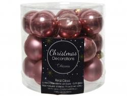 Acheter Lot de 24 mini boules de Noël en verre - vieux rose -2,5 cm - 3,99€ en ligne sur La Petite Epicerie - Loisirs créatifs