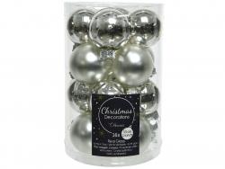Acheter Lot de 16 petites boules de Noël en verre - argent - 3,5 cm - 4,99€ en ligne sur La Petite Epicerie - Loisirs créatifs