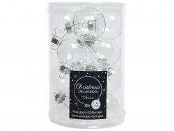 Acheter Lot de 16 petites boules de Noël en verre - transparent / clair - 3,5 cm - 4,99€ en ligne sur La Petite Epicerie - L...