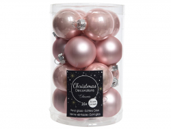Acheter Lot de 16 petites boules de Noël en verre - rose poudré - 3,5 cm - 4,99€ en ligne sur La Petite Epicerie - Loisirs c...
