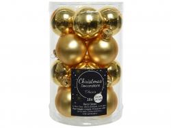 Acheter Lot de 16 petites boules de Noël en verre - or clair - 3,5 cm - 4,99€ en ligne sur La Petite Epicerie - Loisirs créa...
