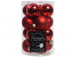 Acheter Lot de 16 petites boules de Noël en verre - rouge Noël - 3,5 cm - 4,99€ en ligne sur La Petite Epicerie - Loisirs cr...