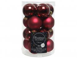 Acheter Lot de 16 petites boules de Noël en verre - bordeaux - 3,5 cm - 4,99€ en ligne sur La Petite Epicerie - Loisirs créa...