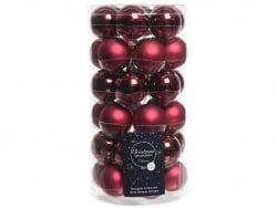 Acheter Lot de 36 boules de Noël en verre - bordeaux - 4 cm - 11,99€ en ligne sur La Petite Epicerie - Loisirs créatifs