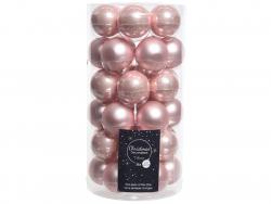 Acheter Lot de 36 boules de Noël en verre - rose poudré - 4 cm - 11,99€ en ligne sur La Petite Epicerie - Loisirs créatifs