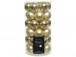 Acheter Lot de 36 boules de Noël en verre - champagne - 4 cm - 11,99€ en ligne sur La Petite Epicerie - Loisirs créatifs