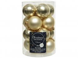 Acheter Lot de 16 boules en verre - champagne - 3,5 cm - 4,99€ en ligne sur La Petite Epicerie - Loisirs créatifs