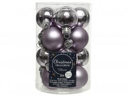 Acheter Lot de 16 boules en verre - lilas givré - 3,5 cm - 4,99€ en ligne sur La Petite Epicerie - Loisirs créatifs