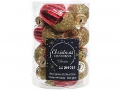 Acheter Lot de 12 boules de Noël en forme de gland - rouge Noël - 4,99€ en ligne sur La Petite Epicerie - Loisirs créatifs