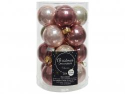 Acheter Lot de 16 boules en verre - couleurs roses assorties - 3,5 cm - 4,99€ en ligne sur La Petite Epicerie - Loisirs créa...