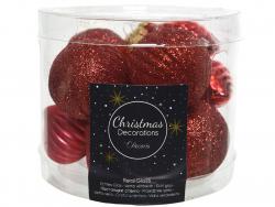 Acheter Assortiment de boules de Noël en verre à paillettes - rouge Noël - 4,99€ en ligne sur La Petite Epicerie - Loisirs c...