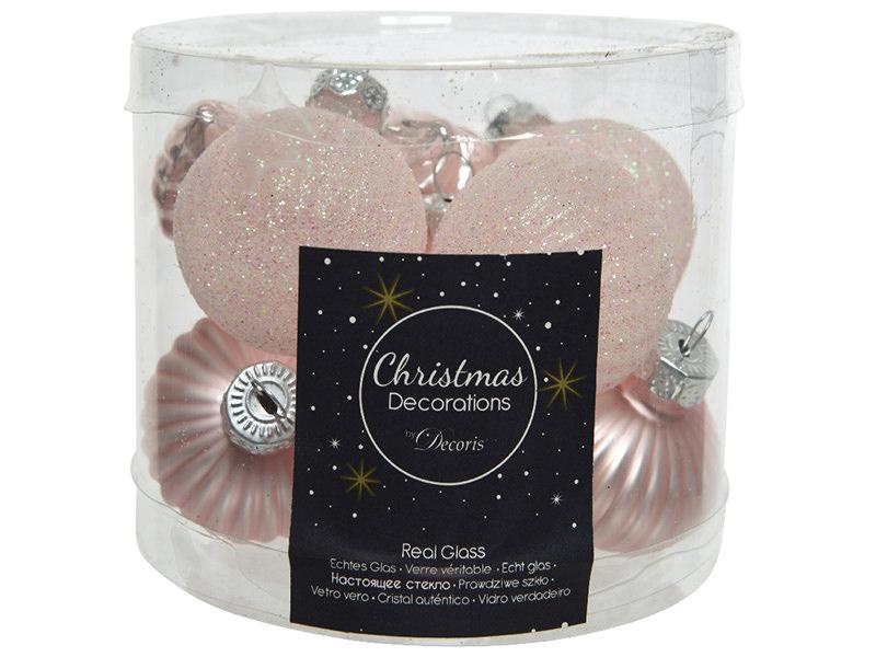 Acheter Assortiment de boules de Noël en verre à paillettes - rose poudré - 4,99€ en ligne sur La Petite Epicerie - Loisirs ...