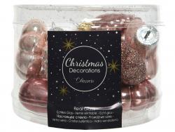 Acheter Assortiment de 12 boules de Noël - vieux rose - 4,99€ en ligne sur La Petite Epicerie - Loisirs créatifs