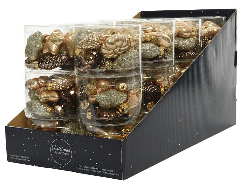 Acheter Assortiment de 12 boules de Noël - brun et doré - 5,99€ en ligne sur La Petite Epicerie - Loisirs créatifs