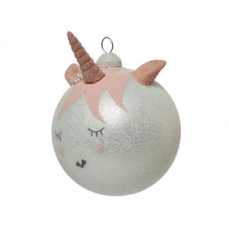 Acheter Boule de Noël - licorne blanche - 3,49€ en ligne sur La Petite Epicerie - Loisirs créatifs