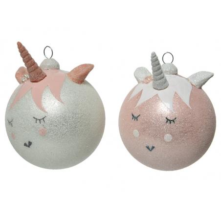 Acheter Boule de Noël - licorne rose - 3,49€ en ligne sur La Petite Epicerie - Loisirs créatifs