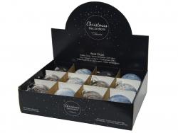 Acheter Boule de Noël en verre tachetée blanche - 8 cm - 2,49€ en ligne sur La Petite Epicerie - Loisirs créatifs
