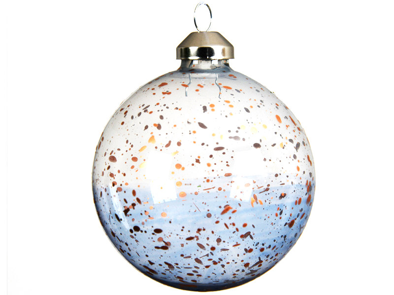Acheter Boule de Noël en verre tachetée transparente - 8 cm - 2,49€ en ligne sur La Petite Epicerie - Loisirs créatifs