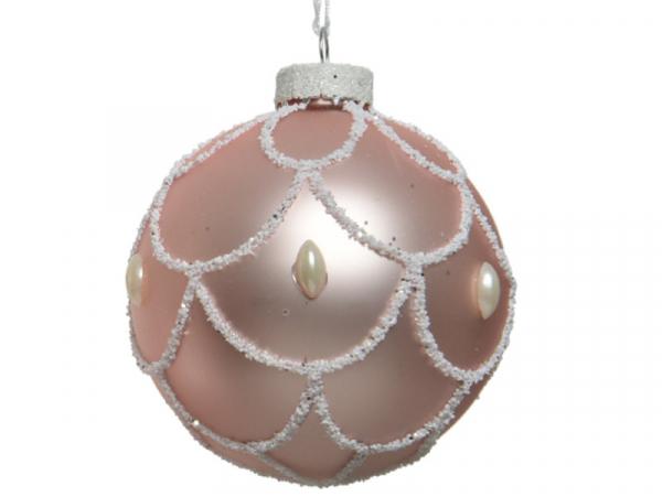 Acheter Boule de Noël en verre rose poudré - décor écailles - 8 cm - 2,99€ en ligne sur La Petite Epicerie - Loisirs créatifs