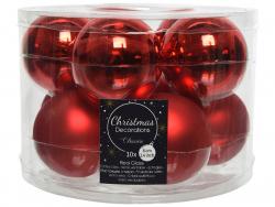 Acheter Lot de 10 boules en verre - rouge - 6 cm - 6,99€ en ligne sur La Petite Epicerie - Loisirs créatifs
