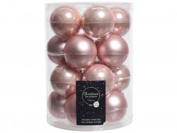 Acheter Lot de 20 boules en verre - rose poudré - 6 cm - 12,49€ en ligne sur La Petite Epicerie - Loisirs créatifs