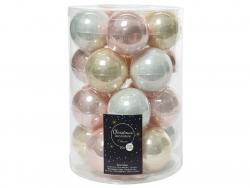 Acheter Lot de 20 boules en verre - tons clairs assortis - 6 cm - 12,49€ en ligne sur La Petite Epicerie - Loisirs créatifs