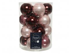 Acheter Lot de 20 boules en verre - tons bordeaux assortis - 6 cm - 12,49€ en ligne sur La Petite Epicerie - Loisirs créatifs