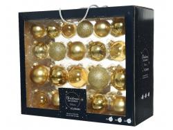 Acheter Coffret de 42 boules en verre et à paillettes - tons or - tailles assorties - 29,99€ en ligne sur La Petite Epicerie...