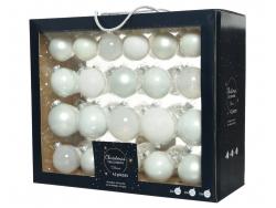 Acheter Coffret de 42 boules en verre et à paillettes - tons blancs - tailles assorties - 29,99€ en ligne sur La Petite Epic...