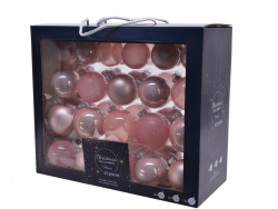 Acheter Coffret de 42 boules en verre et à paillettes - tons roses - tailles assorties - 29,99€ en ligne sur La Petite Epice...