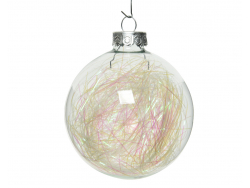 Acheter Lot de 4 boules en verre avec fils irisés - 7 cm - 3,49€ en ligne sur La Petite Epicerie - Loisirs créatifs