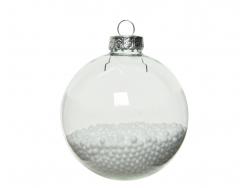 Acheter Lot de 4 boules en verre avec billes polystyrène - 7 cm - 3,49€ en ligne sur La Petite Epicerie - Loisirs créatifs