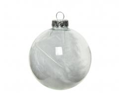 Acheter Lot de 4 boules en verre avec plumes - 7 cm - 3,49€ en ligne sur La Petite Epicerie - Loisirs créatifs