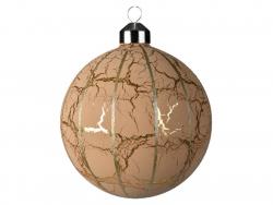 Acheter Grosse boule de Noël rose à craquelures dorées - 10 cm - 4,49€ en ligne sur La Petite Epicerie - Loisirs créatifs