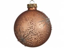 Acheter Boule de Noël cuivrée avec décor étoilé - 8 cm - 2,99€ en ligne sur La Petite Epicerie - Loisirs créatifs