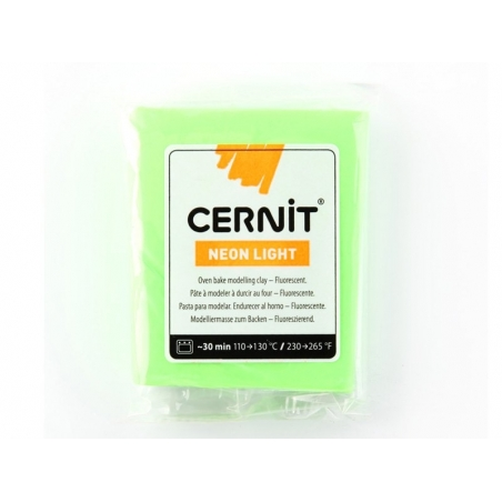 CERNIT clay Neon Light - green