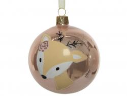 Acheter Boule de Noël biche en verre - vieux rose - 8 cm - 3,99€ en ligne sur La Petite Epicerie - Loisirs créatifs