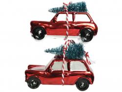 Acheter Lot de 2 boules de Noël - voiture transportant un sapin - 6,99€ en ligne sur La Petite Epicerie - Loisirs créatifs