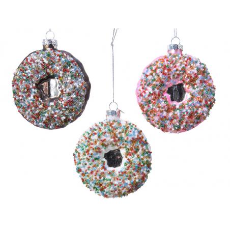 Acheter Boule de Noël donut au chocolat en verre - 3,49€ en ligne sur La Petite Epicerie - Loisirs créatifs