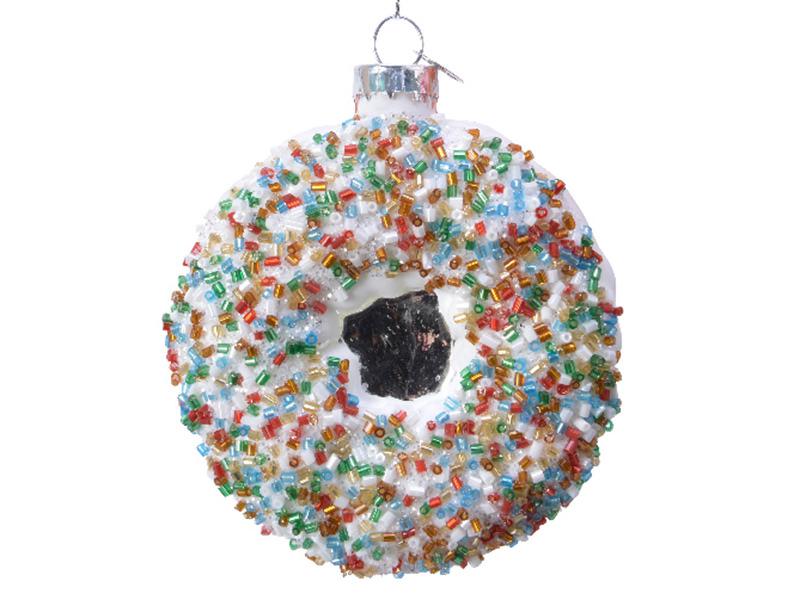 Acheter Boule de Noël donut à la vanille en verre - 3,49€ en ligne sur La Petite Epicerie - Loisirs créatifs