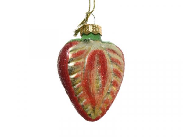 Acheter Boule de Noël en verre en forme de fruit - fraise - 2,49€ en ligne sur La Petite Epicerie - Loisirs créatifs