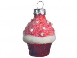 Acheter Boule de Noël cupcake en verre - tons roses - 1,99€ en ligne sur La Petite Epicerie - Loisirs créatifs