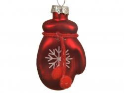 Acheter Boule de Noël en verre- moufle rouge - 1,99€ en ligne sur La Petite Epicerie - Loisirs créatifs