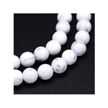 Acheter Lot de 15 perles naturelles rondes 6 mm - Howlite - 1,89€ en ligne sur La Petite Epicerie - Loisirs créatifs