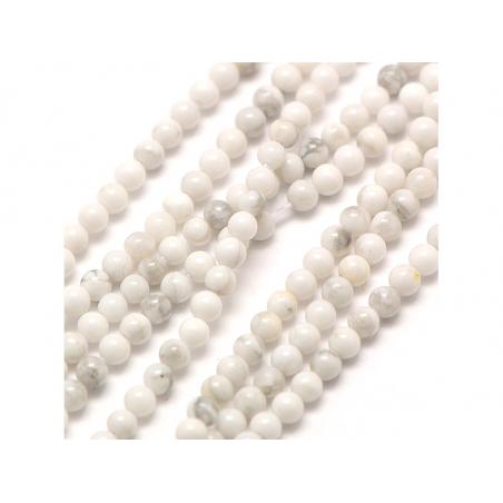 Acheter Lot de 50 perles naturelles 2 mm - Howlite - 3,59€ en ligne sur La Petite Epicerie - Loisirs créatifs