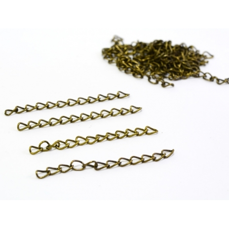 20 extension / finish chains - bronze-coloured